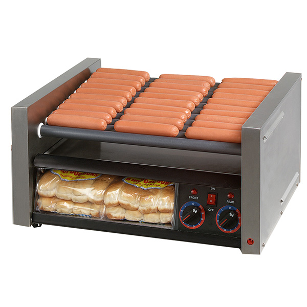 Star Grill Max Roller Grills with Analog Controls with Clear Bun