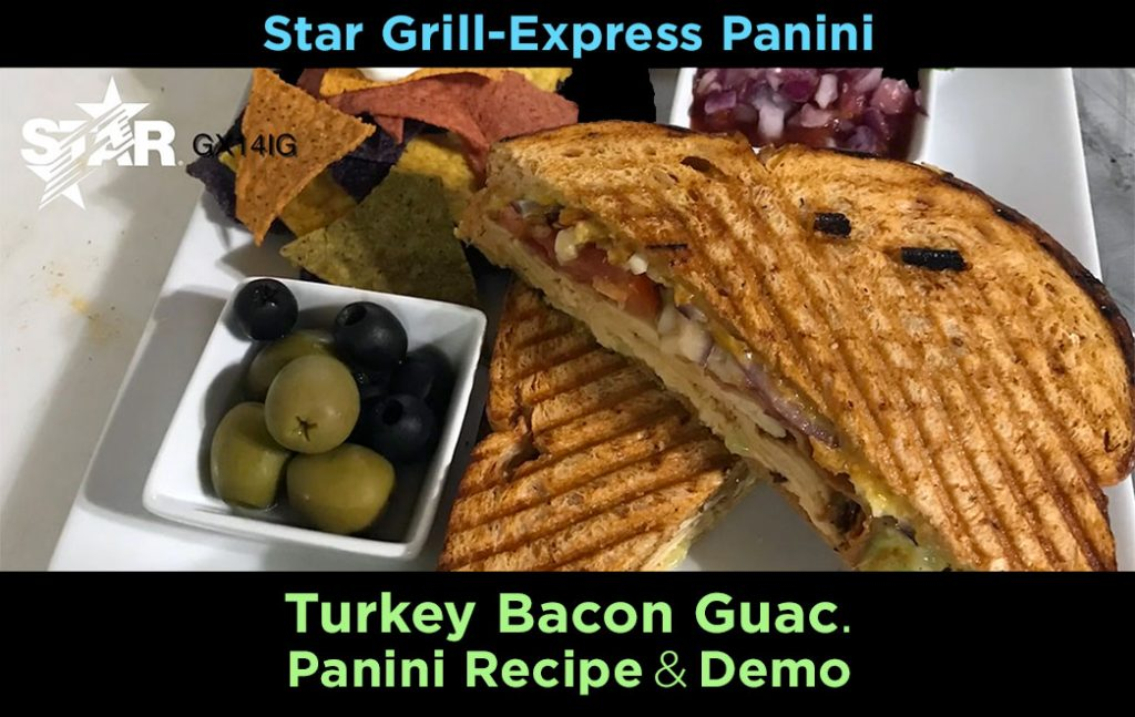 turkey bacon guacamole panini