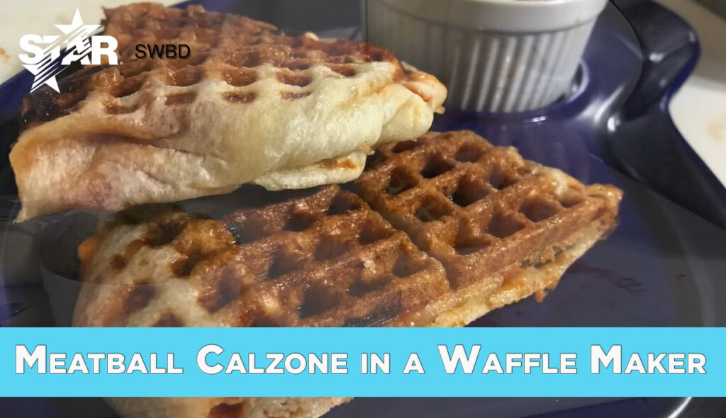 Meatball Calzone Demo in a Star SWBD Waffle Baker